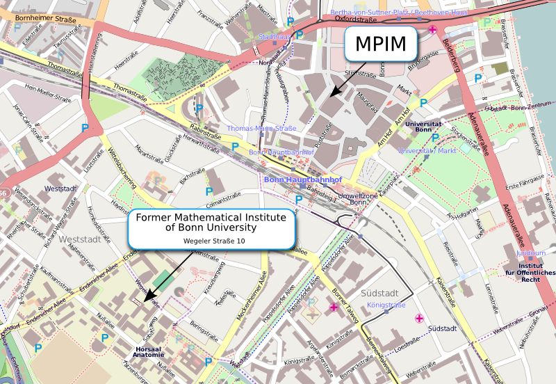 directions for the former mathematical institute